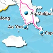 where to stay phuket map - villas and apartments for holiday or long term rent phuket - Ao Yon