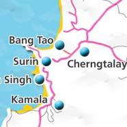 where to stay phuket map - villas and apartments for holiday or long term rent phuket - Bang Tao