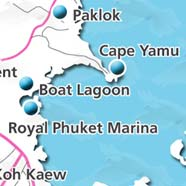 where to stay phuket map - villas and apartments for holiday or long term rent phuket - Boat Lagoon