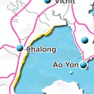 where to stay phuket map - villas and apartments for holiday or long term rent phuket - Chalong