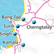 where to stay phuket map - villas and apartments for holiday or long term rent phuket - Chergntalay