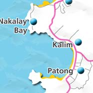 where to stay phuket map - villas and apartments for holiday or long term rent phuket - Kalim