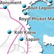 where to stay phuket map - villas and apartments for holiday or long term rent phuket - Koh Kaew
