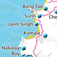 where to stay phuket map - villas and apartments for holiday or long term rent phuket - Laem Singh