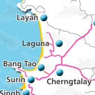 where to stay phuket map - villas and apartments for holiday or long term rent phuket - Laguna