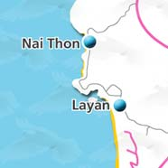 where to stay phuket map - villas and apartments for holiday or long term rent phuket - Layan