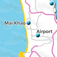 where to stay phuket map - villas and apartments for holiday or long term rent phuket - Mai Khao