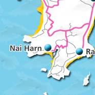 where to stay phuket map - villas and apartments for holiday or long term rent phuket - Nai Harn