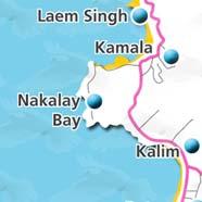 where to stay phuket map - villas and apartments for holiday or long term rent phuket - Nakalay Bay