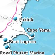 where to stay phuket map - villas and apartments for holiday or long term rent phuket - Paklok