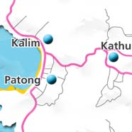 where to stay phuket map - villas and apartments for holiday or long term rent phuket - Patong