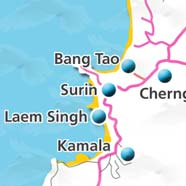 where to stay phuket map - villas and apartments for holiday or long term rent phuket - Surin