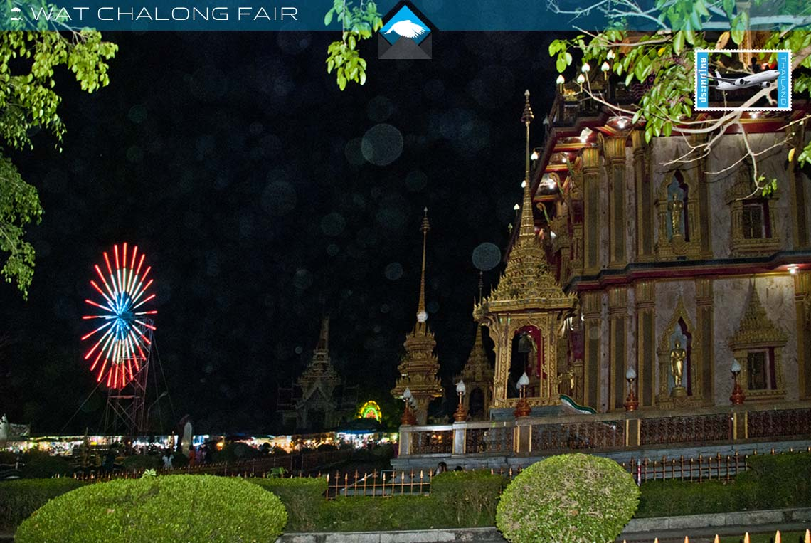 Wat chalong fair, stalls and fairgound set up easy to reach from your chalong holiday apartment