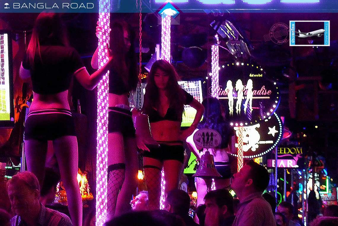 Bangla road gogo bars and dancing girls patong holiday villas